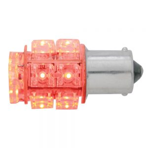 (CARD) 13 RED LED 360 DEGREE 1156 BULB - STRAIGHT PIN