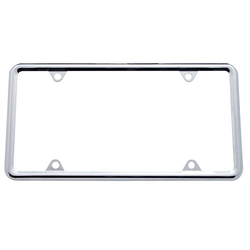 (CARD) CHROME LICENSE PLATE FRAME