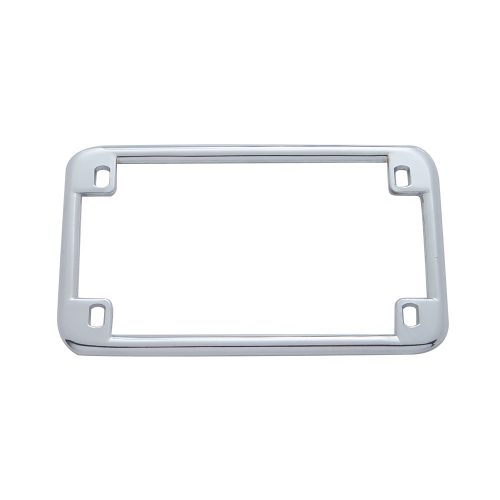 (CARD) CHROME PLAIN MOTORCYCLE LICENSE FRAME