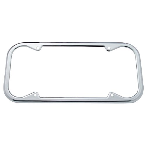 (CARD) 1940/55 CHROME LICENSE FRAME - ROUND CORNER