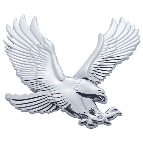 (CARD) CHROME PLASTIC FLYING EAGLE ACCENT - FACING RIGHT
