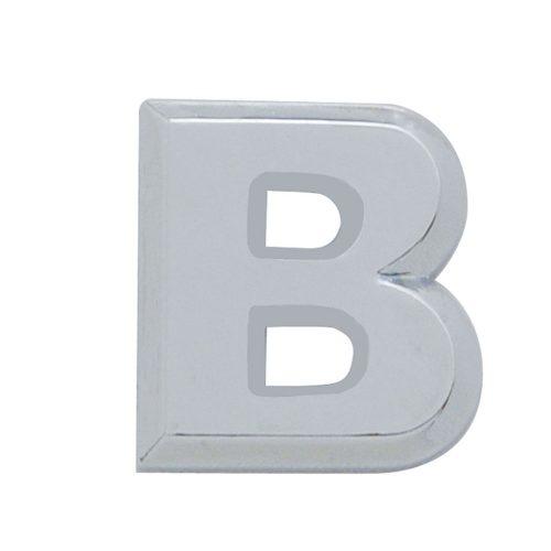 """(CARD) CHROME PLASTIC LETTER - """"B"""""""