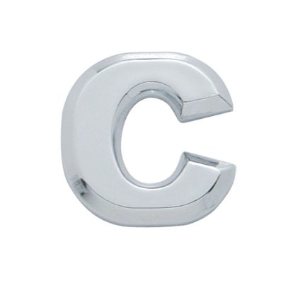 "(CARD) CHROME PLASTIC LETTER - ""C"""