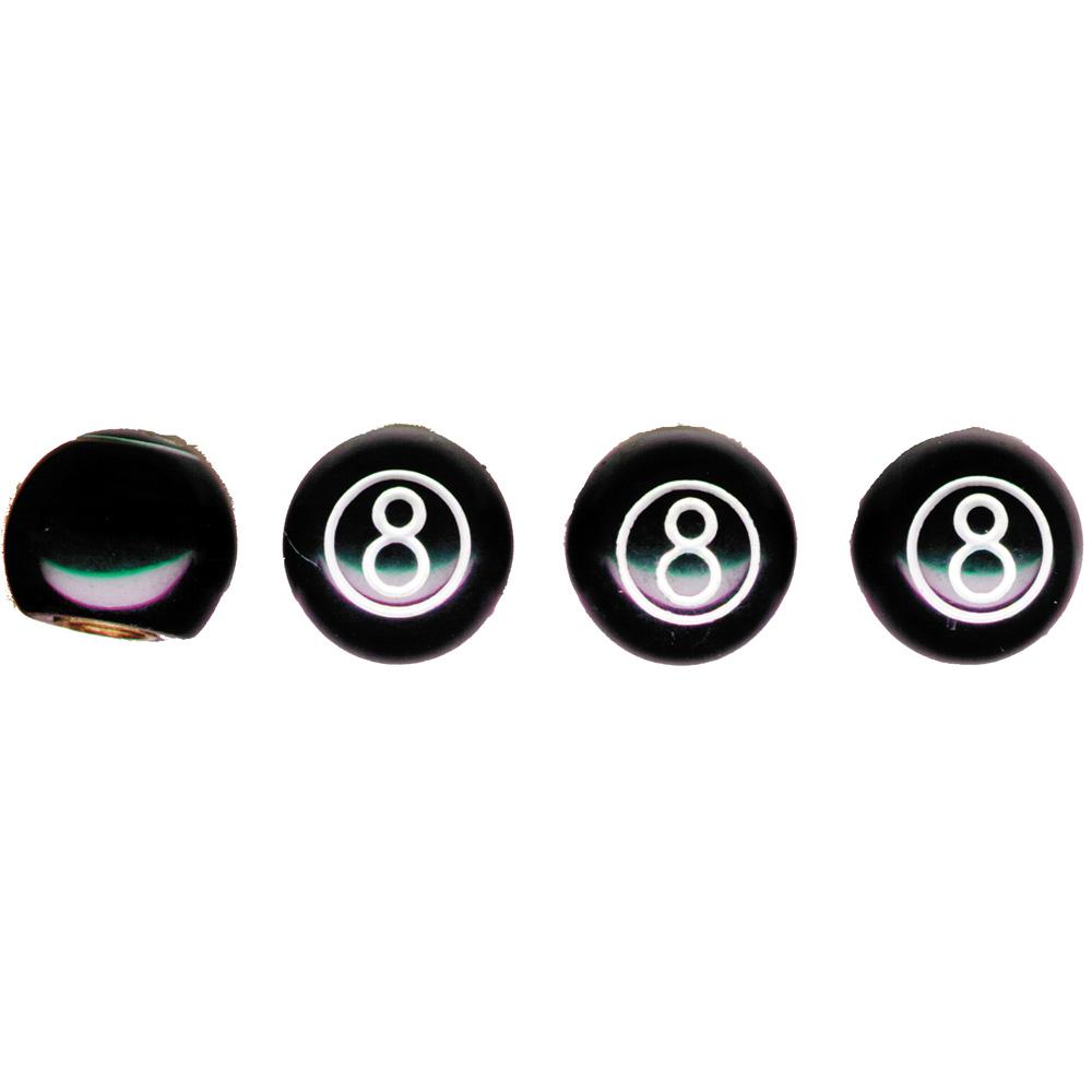 "(4/CARD) BLACK ""8"" BALL VALVE CAPS"