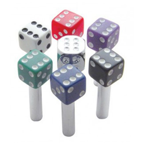 (2/CARD) CHROME DICE DOOR KNOB