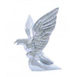(BOX) CHROME HOOD ORNAMENT - AMERICAN EAGLE