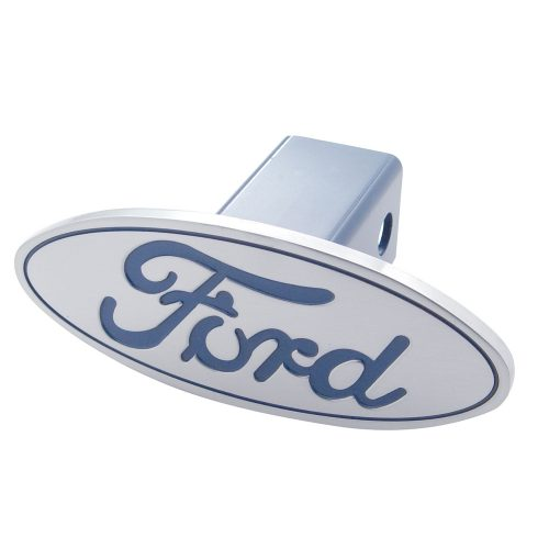 "(CARD) ALUMINUM ""FORD"" LOGO HITCH COVER"