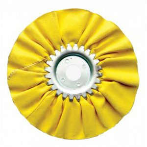 "(CARD) 6"" YELLOW TREATED AIRWAY BUFF - 12 PLY"