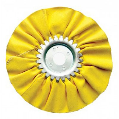 """(CARD) 6"""" YELLOW TREATED AIRWAY BUFF - 12 PLY"""