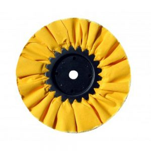 "(CARD) 10"" YELLOW TREATED AIRWAY BUFF - 16 PLY"