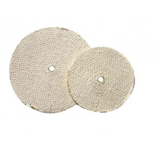 "CARD) 6"" WHITE SISAL CLOTH BUFF WHEEL - 11 PLY. & 5/8"" ARBOR"