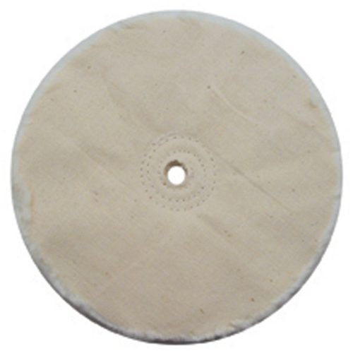 "(CARD) 6"" WHITE OPEN MUSLIN BUFF - 18 PLY. & 3/8"" ARBOR"