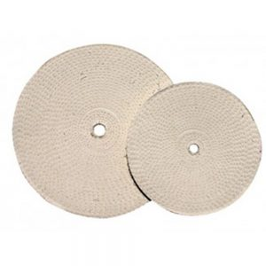 "(CARD) 8"" WHITE TREATED MUSLIN WHEEL (5PC SET)"