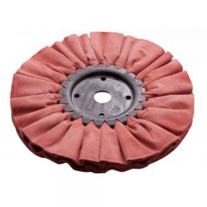 "(CARD) 10"" RED TOUGH/HARD BUFFING PAD - 16 5/8 PLY. & 1/2"" ARBOR"