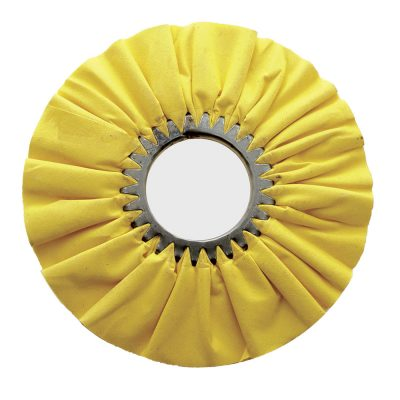 """(CARD) 10"""" YELLOW TREATED AIRWAY BUFF - 16 PLY"""