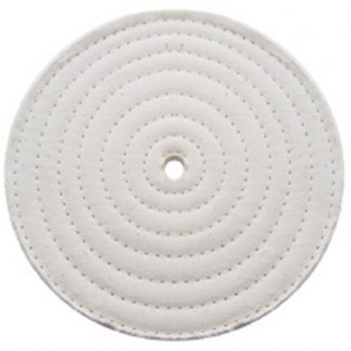 """(PACK) 4"""" ASSORTED SOFT MUSLIN/SPIRAL SEWN - 30 PLY. & 1/2"""" ARBOR"""