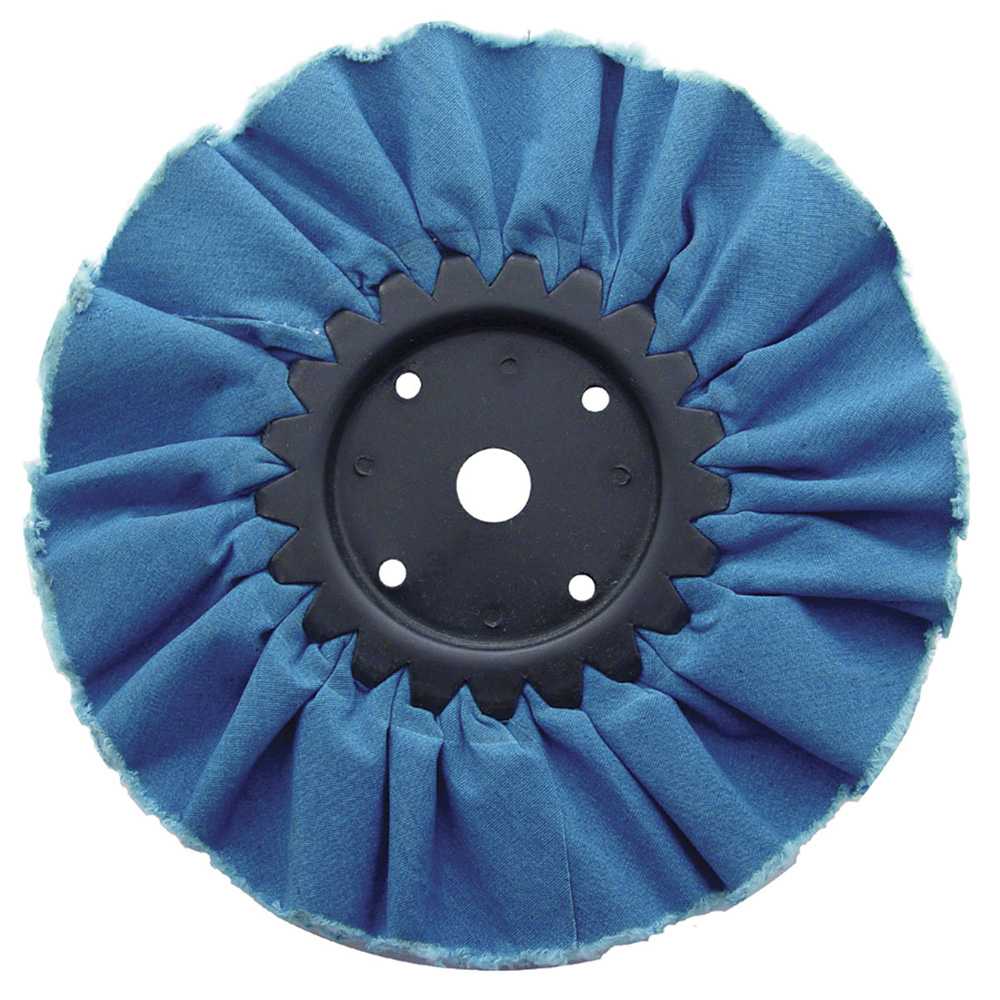 "(CARD) 8"" BLUE TREATED AIRWAY BUFF - 16 PLY"