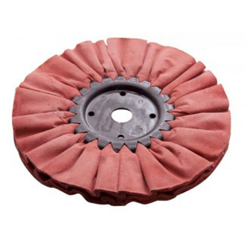 "(CARD) 6"" RED TOUGH/HARD BUFFING PAD - 12 PLY. & 3/4"" ARBOR"