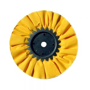 """(CARD) 8"""" YELLOW TREATED AIRWAY BUFF - 16 PLY"""