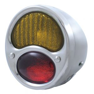 (BULK)28-31 ECON SS TAIL LIGHT RED/AMBER GLASS LENS 6 VOLT (L/H)