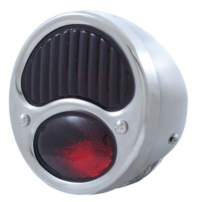 (BULK)28-31 ECON SS TAIL LIGHT ALL RED GLASS LENS 6 VOLT (L/H)