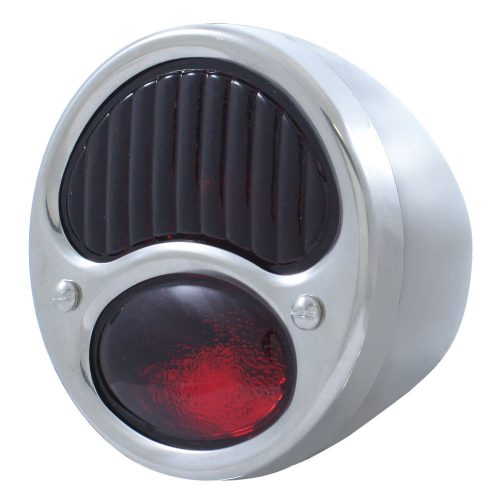 (BULK)28-31 ECON SS TAIL LIGHT ALL RED GLASS LENS 12 VOLT (R/H)