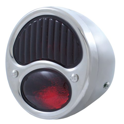 (BULK)28-31 ECON SS TAIL LIGHT ALL RED GLASS LENS 6 VOLT (R/H)