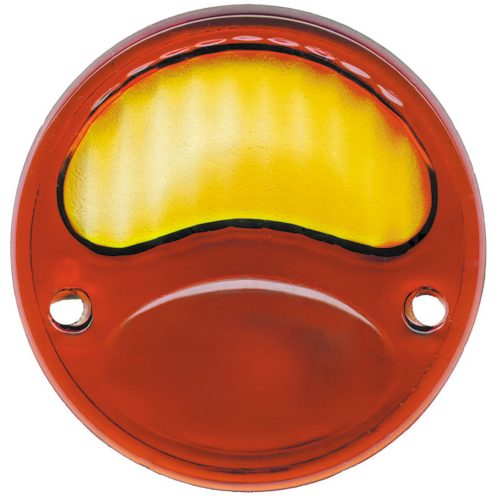 (BULK)1928-31 AMBR/RED TAIL LIGHT GLASS LENS