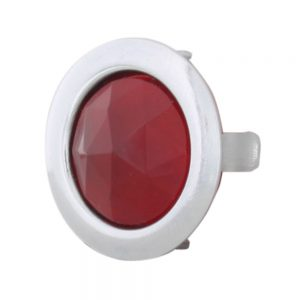 (2/BULK)RED DOT W/CHROME RING-SHORT FOOT
