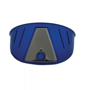 (PAIR)TRANSLUCENT PLASTIC HEADLIGHT VISOR-BLUE