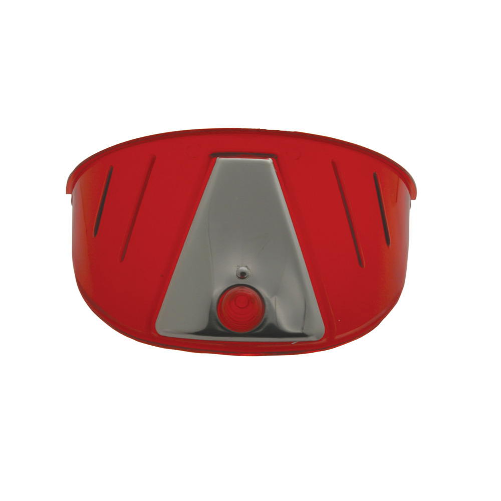 (PAIR)TRANSLUCENT PLASTIC HEADLIGHT VISOR-RED