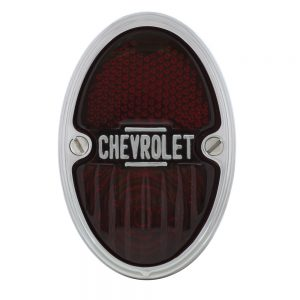 (BOX) 1933-35 CHEVROLET TAIL LIGHT ASSEMBLY - L/H WITH CHROME HOUSING WITH 12V BULB