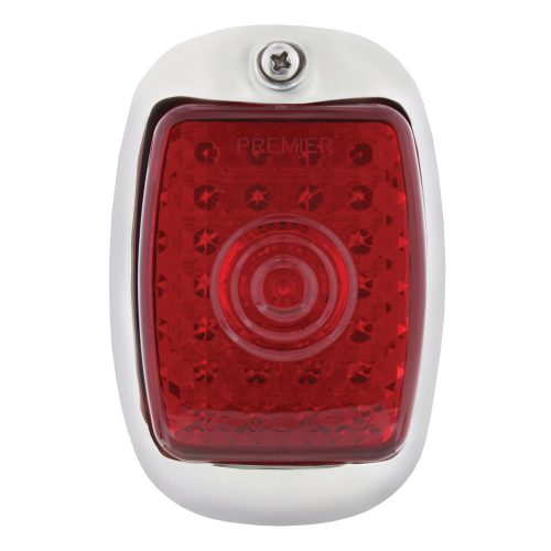(BOX)45 RED LED 1937-38 CHEVY PASSENGER TAIL LIGHT W/SS HOUSING-RED LENS