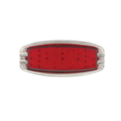 (BOX) 39 RED LED 1941-48 CHEVY DRIVER TAIL LIGHT W/SS RIM-RED LENS