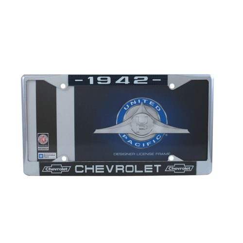 1942 CHEVROLET CHROME LICENSE PLATE FRAME