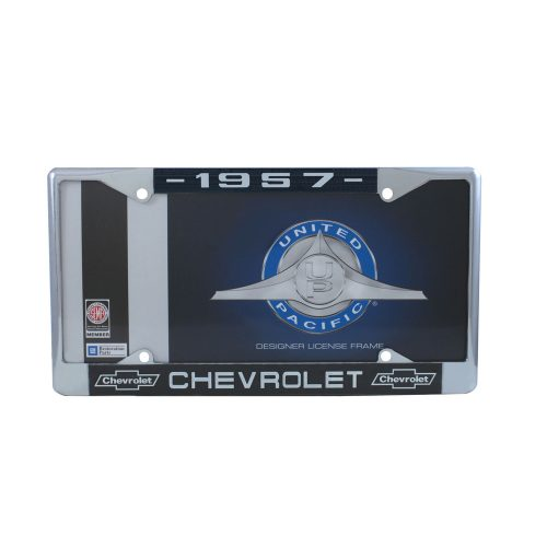 1957 CHEVROLET CHROME LICENSE PLATE FRAME
