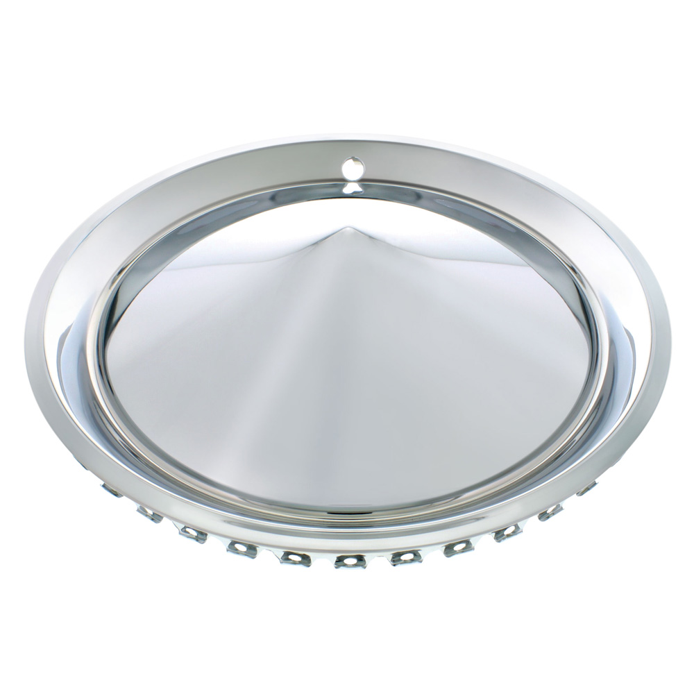 """15"""" 57-PLYMOUTH HUBCAP SET CHROME PLATED / SET OF 4"""