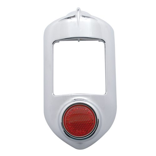 (CARD)1951-52 CHROME TAIL LIGHT BEZEL W/REFLECTOR