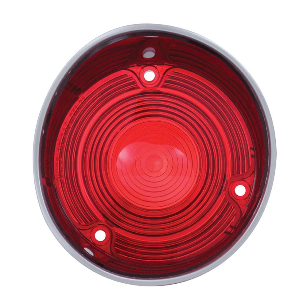 (BULK)1971 CHEVELLE RED PLASTIC TAIL LIGHT LENS W/O TRIM-R/H