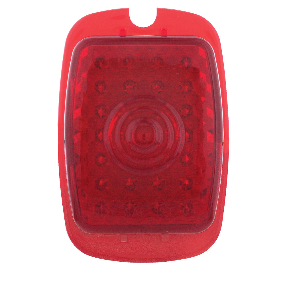 (CARD) 37-38 CHEVY CAR & 40-53 TRUCK RED LED TAIL LIGHT LENS