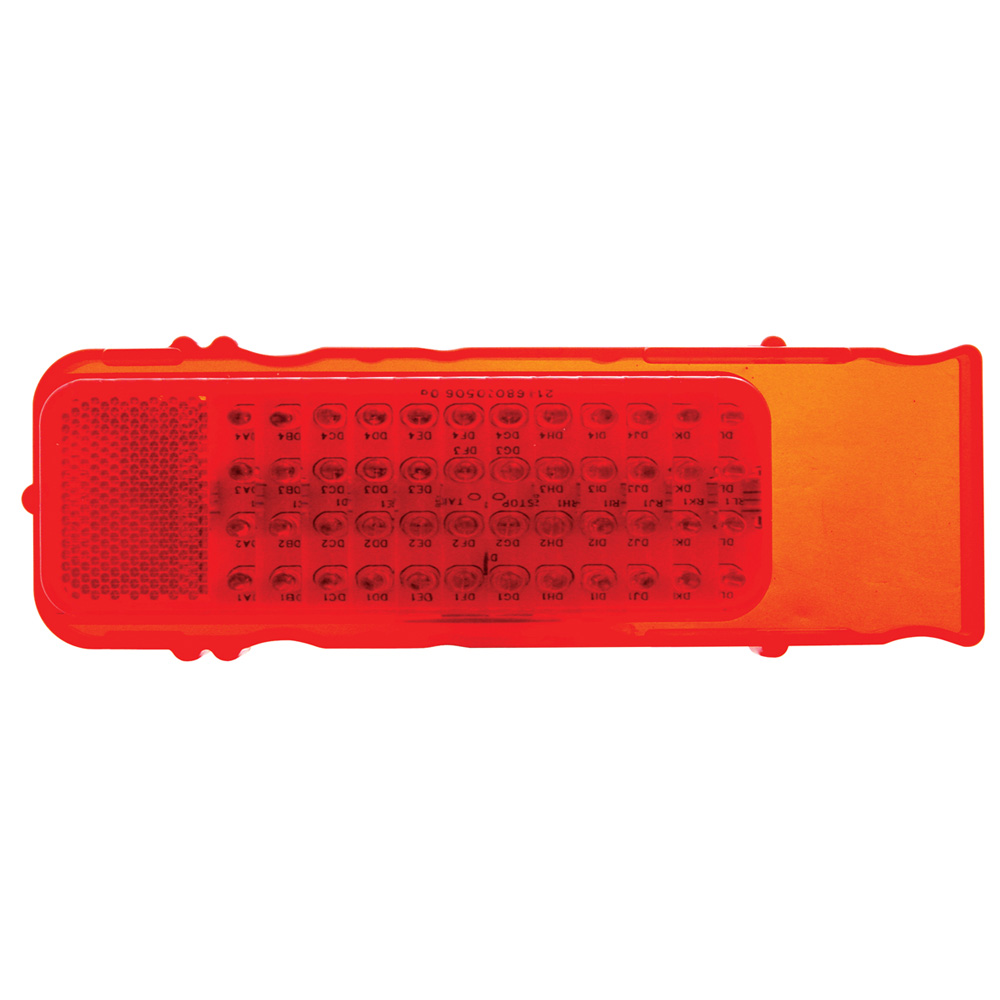 (CARD) 48 RED LED 1968 CHEVY CAMARO TAIL LIGHT-RED LENS