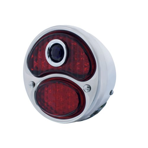 1928-31 FORD MODEL-A RED LED TAIL LIGHT ASSEMBLY W/BLUE DOT