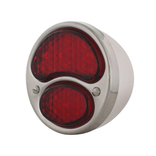 (CARD)19 RED LED 1928-1931 FORD TAIL LIGHT - RED LENS (6V)