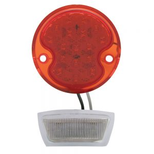 (CARD)17 RED+4 WHITE LED 1932 FORD TAIL LIGHT - RED/CLEAR LENS (12V)