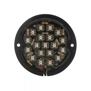 (BAG) 19+5 LED 1933-36 FORD TAIL LIGHT (RETROFIT)-RED/CLEAR LENS