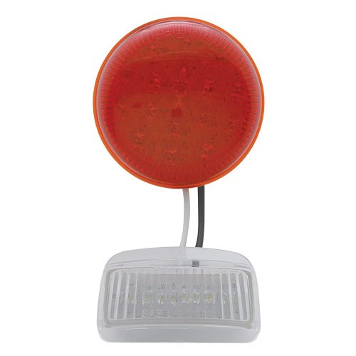(CARD)17 RED+6 WHITE LED 1937 FORD TAIL LIGHT - RED/WHITE LENS