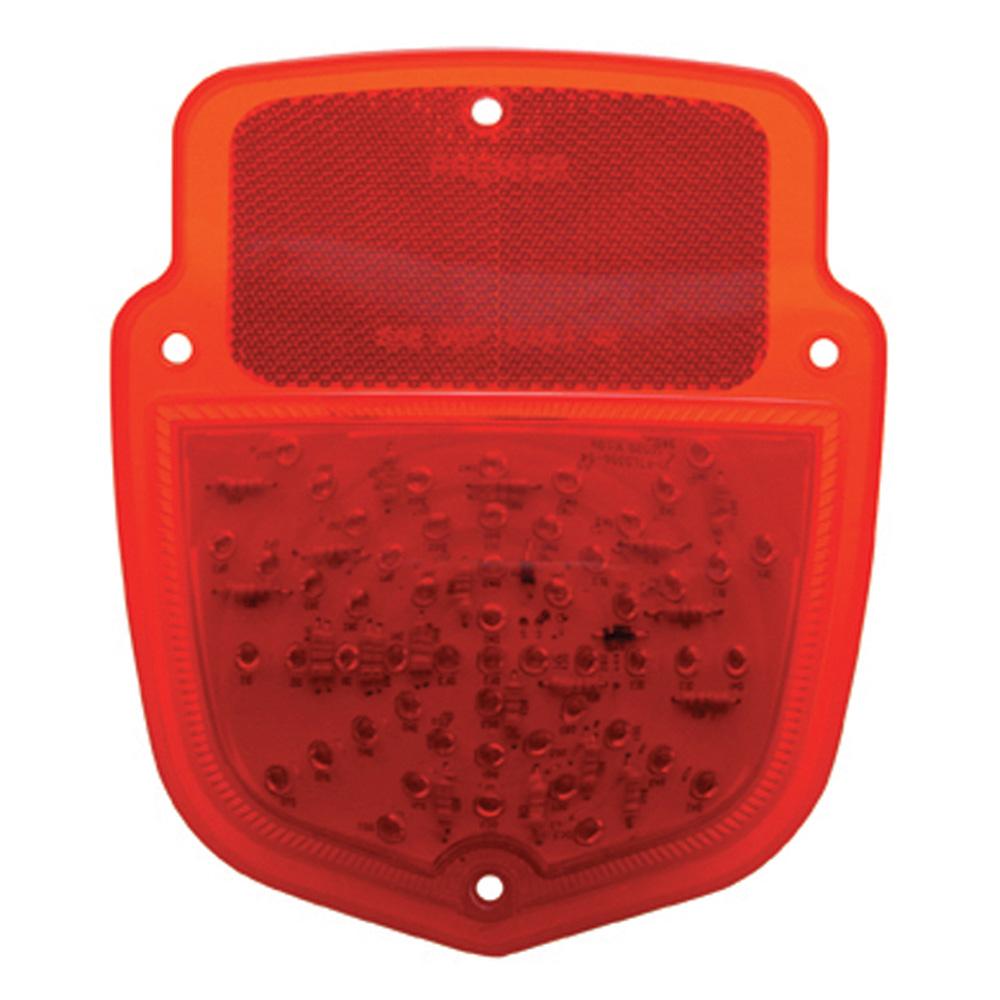 (BULK) 54 RED LED 1953-56 FORD TRUCK TAIL LIGHT-RED LENS (PASSENGER)