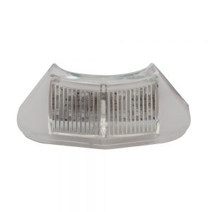 (BULK) 12 WHITE LED 1953-56 FORD TRUCK LICENSE LIGHT-CLEAR LENS
