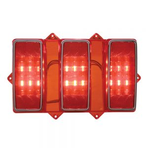 (CARD) 108 RED LED 1969 FORD MUSTANG TAIL LIGHT-RED LENS