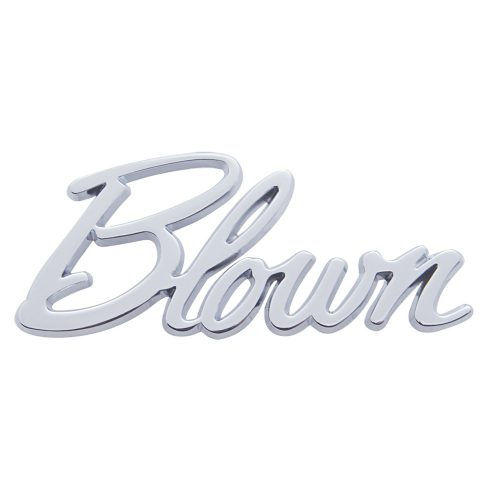 "(CARD)CHROME DIE CAST ""BLOWN"" EMBLEM"